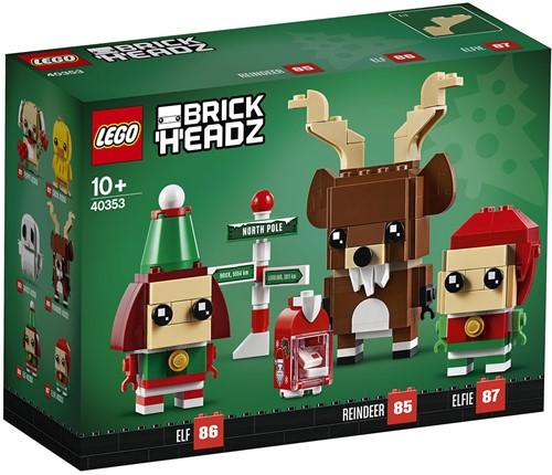 LEGO BrickHeadz™ 40353 Rendier, Elf en Elfie