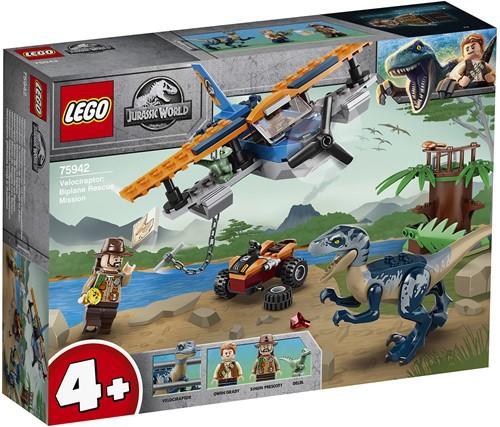 LEGO Jurassic World™ 75942 Velociraptor: Tweedekker reddingsmissie