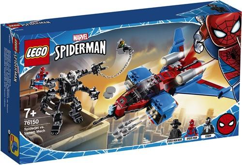 LEGO Marvel Spider-Man Spiderjet vs. Venom Mecha – 76150