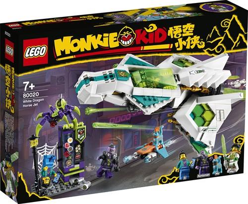 LEGO Monkie Kid™ Witte draak paardenvliegtuig - 80020