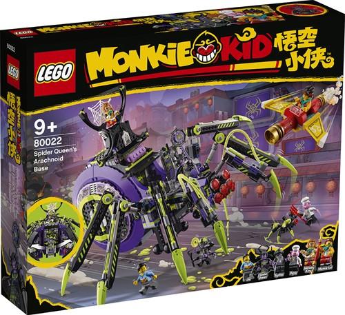 LEGO Monkie Kid™ Arachnide basis van de Spinnenkoningin - 80022