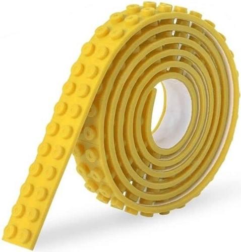 Sinji Play Stick & Brick - Flexibele tape - Geel 100cm